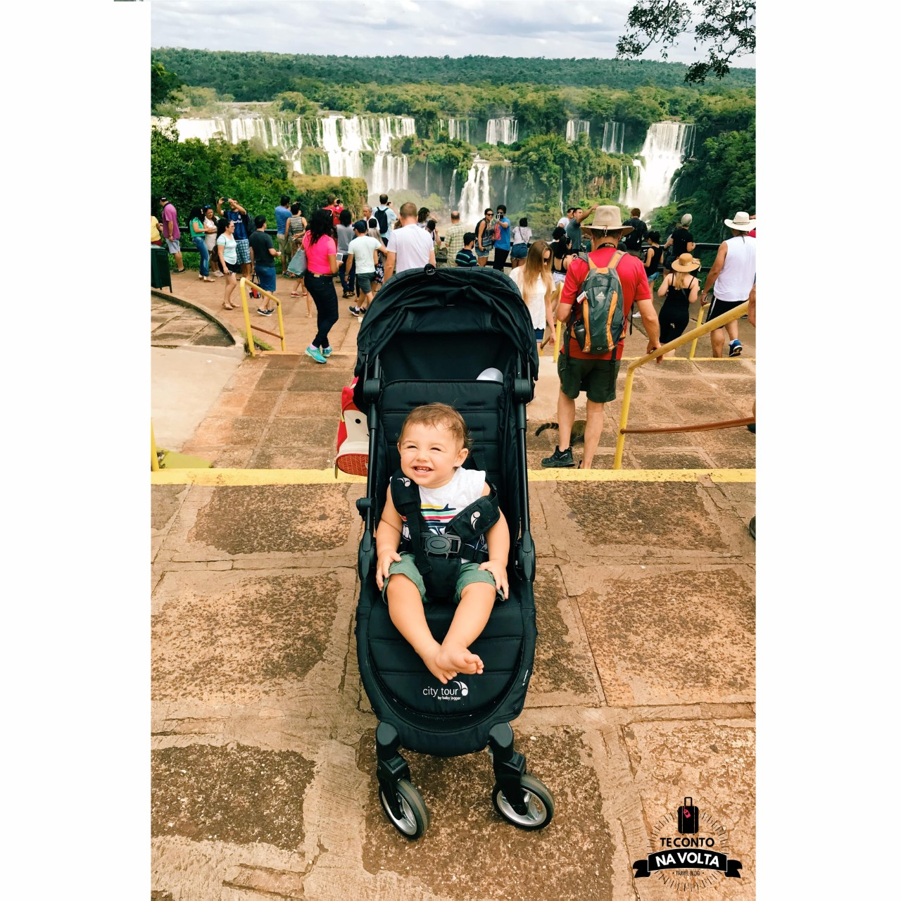 Cataratas do Iguaçu com bebê