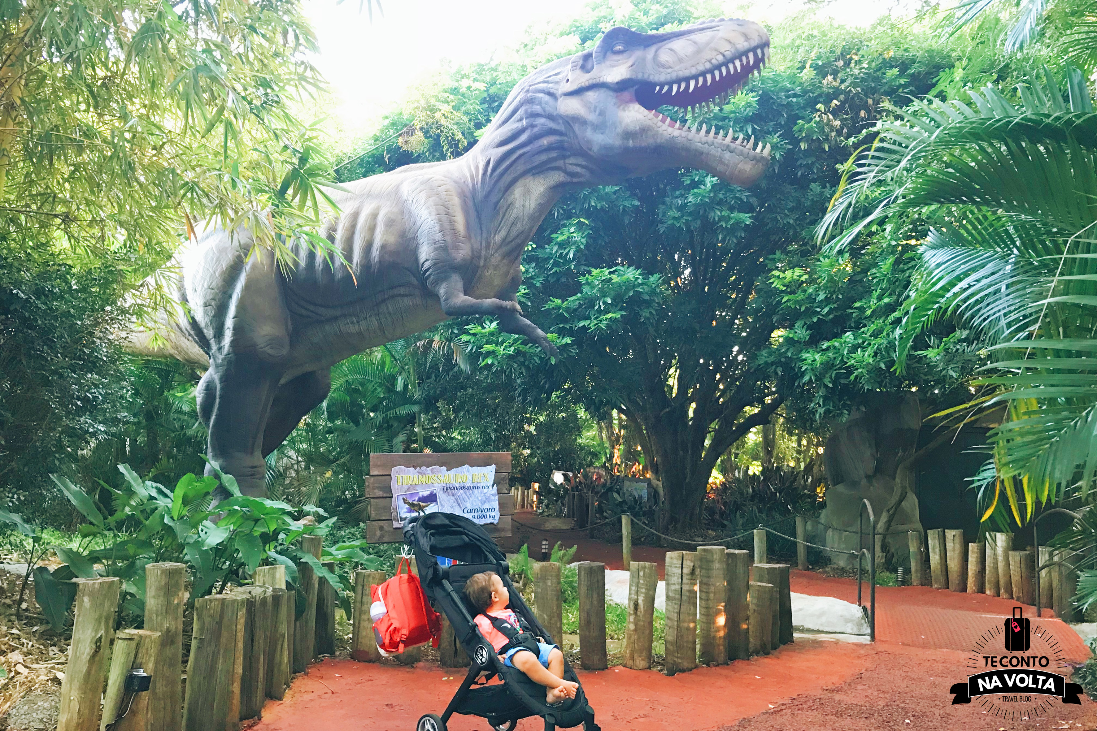 Vale dos dinossauros com bebês